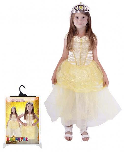 Karnevalový kostým princezna žlutá, vel. M - Kostým princezna žlutá, vel. M