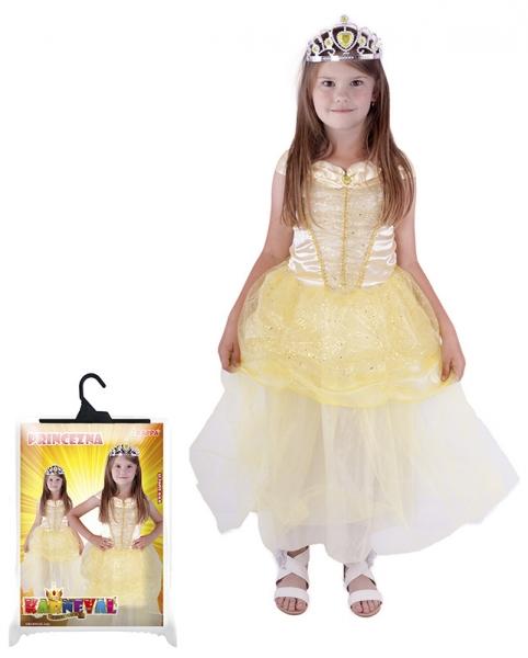 Karnevalový kostým princezna žlutá, vel.S - Kostým princezna žlutá, vel.S
