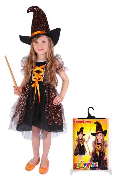Dětský kostým čarodejnice hvězdička (L), Čarodějnice / Halloween