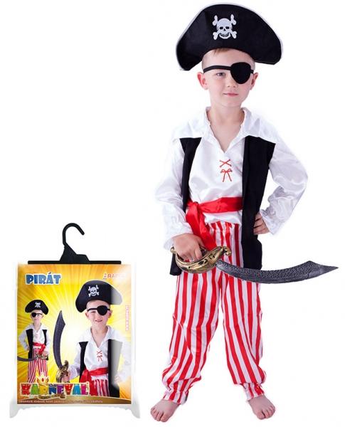 Karnevalový kostým pirát, velikost S