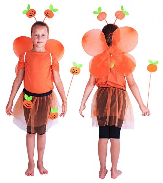 Dětský kostým dýně s křídly / Halloween