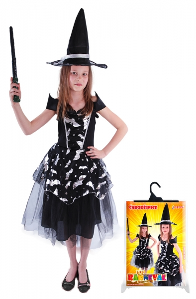 Dětský kostým čarodějnice netopýrka (S), Čarodějnice / Halloween
