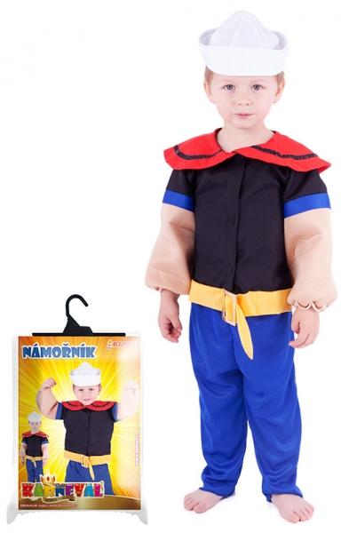Karnevalový kostým námořník Pepa, vel. XS