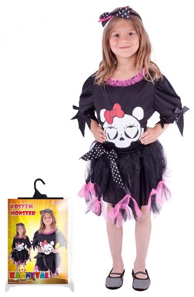 Karnevalový kostým slečna Monster, vel. XS - Kostým slečna Monster, vel. XS