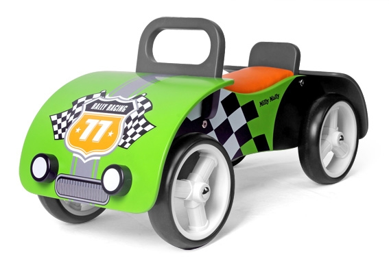 Odrážedlo Milly Mally Junior AUTO - zelené (Milly Mally Junior green)