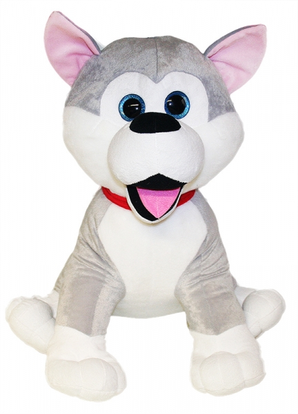 Plyšový pes husky, 55 cm - Plyšový pes husky, 55 cm - 1ks