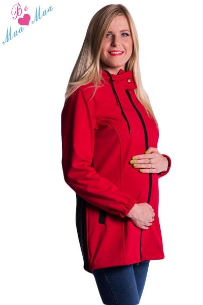 Těhotenská softshellová bunda,kabátek - červená