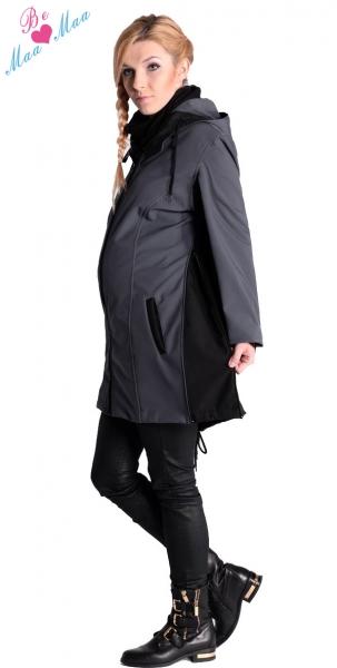 Be MaaMaa Těhotenská softshellová bunda,kabátek - černá, vel. L