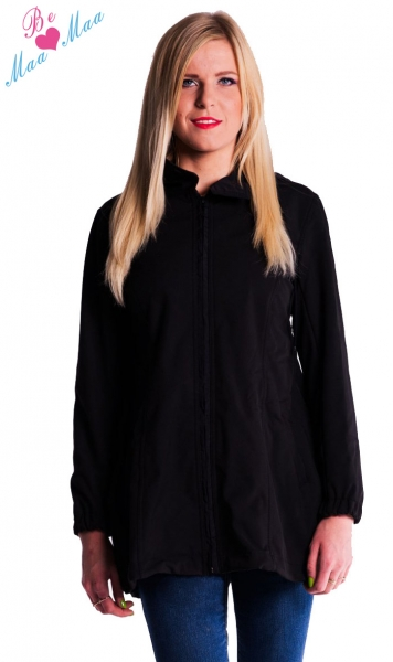 Těhotenská softshellová bunda,kabátek - černá, Velikost: XL (42)