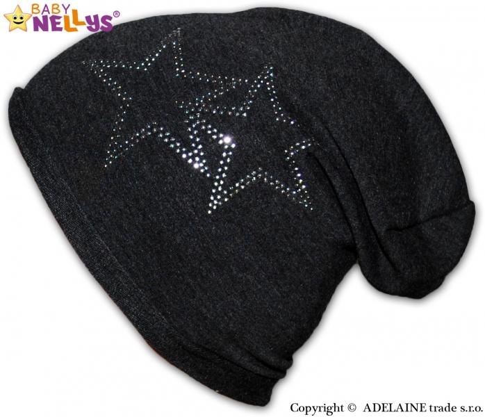 Bavlněná čepička Baby Nellys ® - Hvězdičky