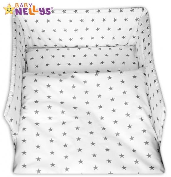 Mantinel s povlečením Baby Nellys ® - Hvězdičky v bílém