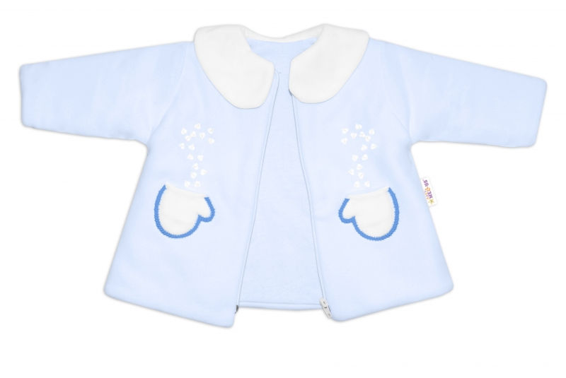 Kabátek, čepička a kalhoty Baby Nellys ®- sv. modrá