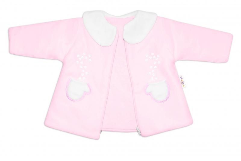 Kabátek, čepička a kalhoty Baby Nellys ®- sv. růžová