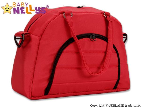 Taška na kočárek Baby Nellys ® ADELA LUX - červená (Barva: červená, Baby Nellys ®)