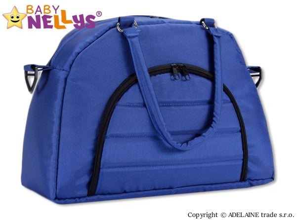Taška na kočárek Baby Nellys ® ADELA LUX -granátová/tm.modrá (Barva: tm.modrá, Baby Nellys ®)