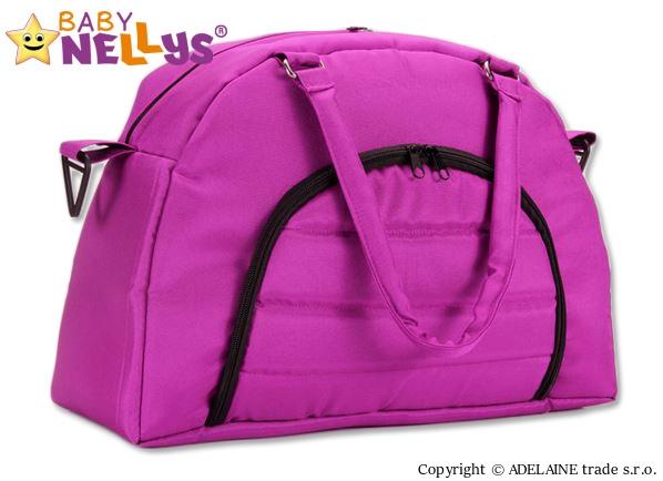 Taška na kočárek Baby Nellys ® ADELA LUX - amarantová (Barva: amarantová, Baby Nellys ®)