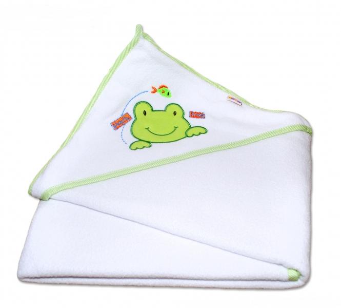 Termoosuška s kapucí Žabka Baby Nellys - bílá