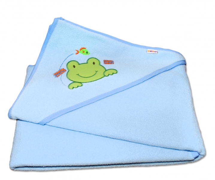 Termoosuška s kapucí Žabka Baby Nellys - modrá