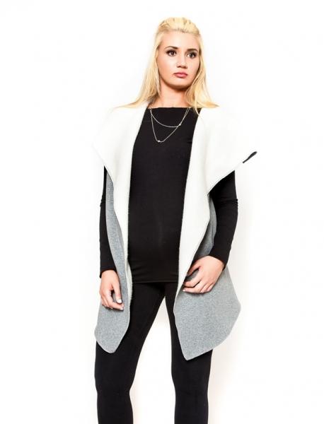 Těhotenská vesta Be MaaMaa - ELSA - barva: šedý melírek, vel. S/M