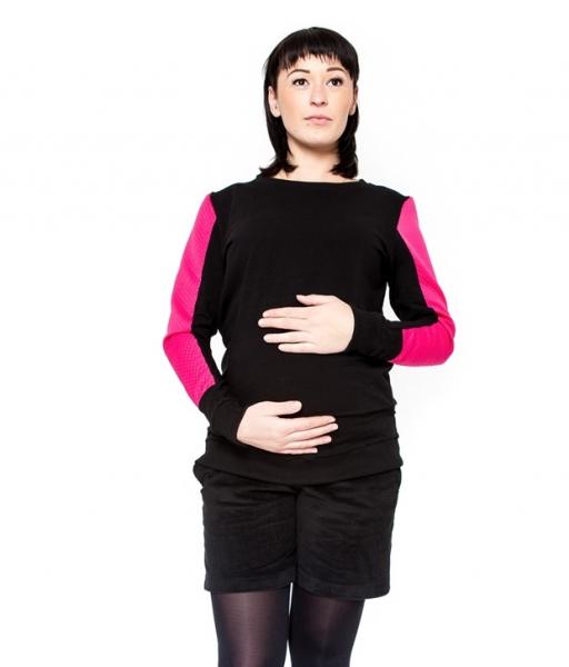 Těhotenské manšestrové kraťásky Be MaaMaa - DINA černé, Velikost: L