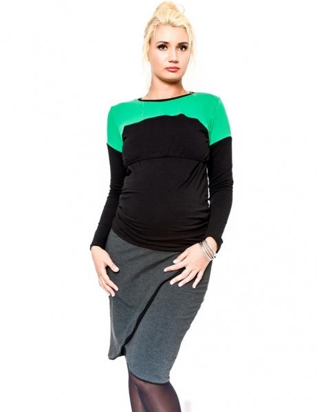 Těhotenská sukně Be MaaMaa - KALIA grafit, Velikost: XL
