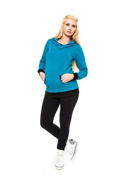Těhotenské kalhoty  Be MaaMaa - KALI černé, Velikost: S (36)