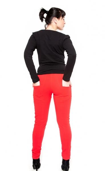 Těhotenské kalhoty  Be MaaMaa - KALI červené