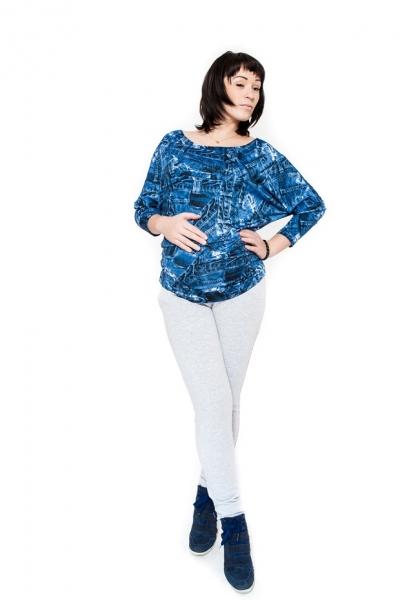 Těhotenské kalhoty  Be MaaMaa - KALI sv. šedé, Velikost: S (36)