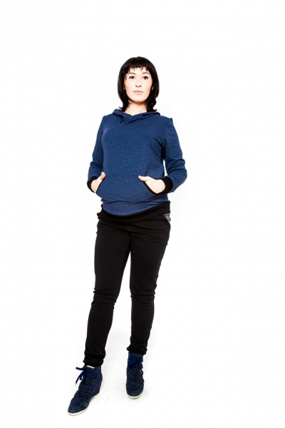 Těhotenské kalhoty  Be MaaMaa - NINA černá