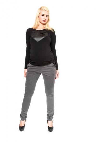 Těhotenské kalhoty  Be MaaMaa - NINA šedá