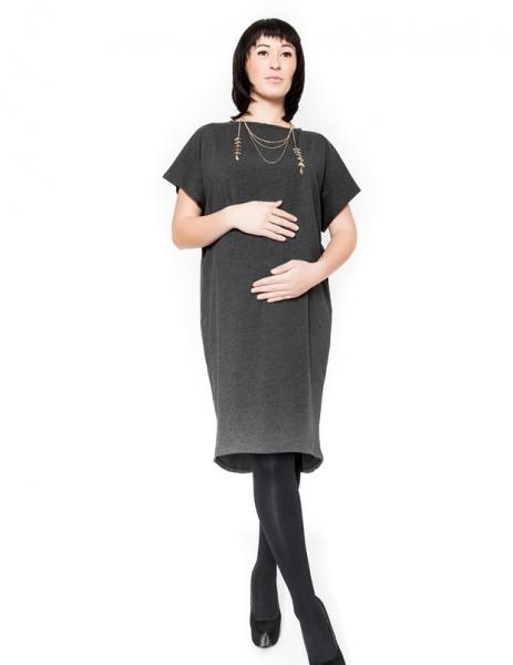 Be MaaMaa Těhotenské šaty/tunika BELLA - grafit