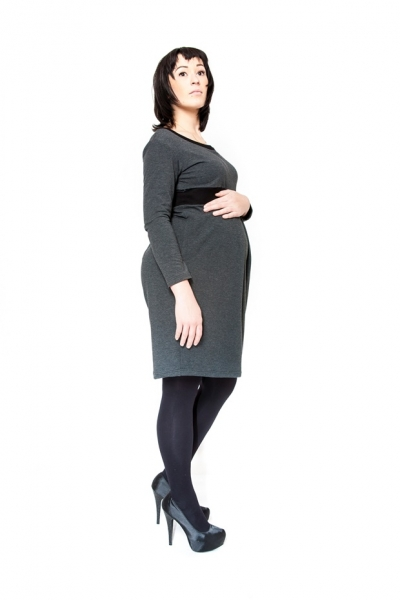 Be MaaMaa Těhotenské šaty/tunika ORA - grafit
