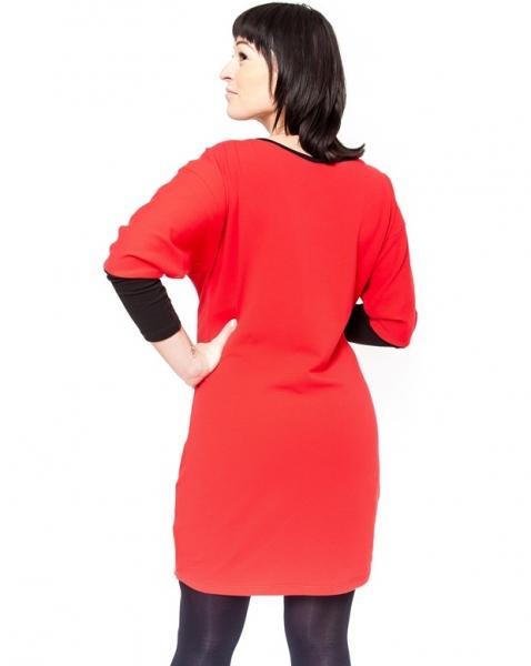 Be MaaMaa Těhotenské šaty/tunika EMMA - červená
