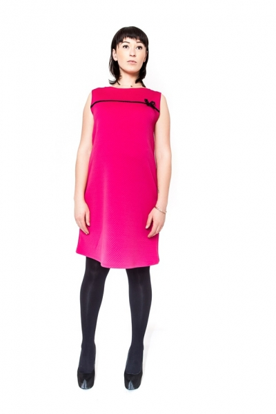 Těhotenské šaty/tunika DIOR - amarant