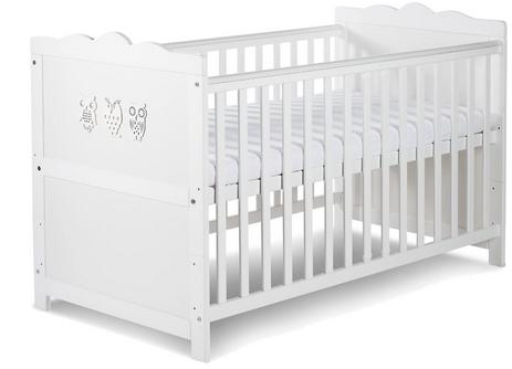 KLUPS Postýlka dětská  MARSELL - bílá, 140 x 70 cm