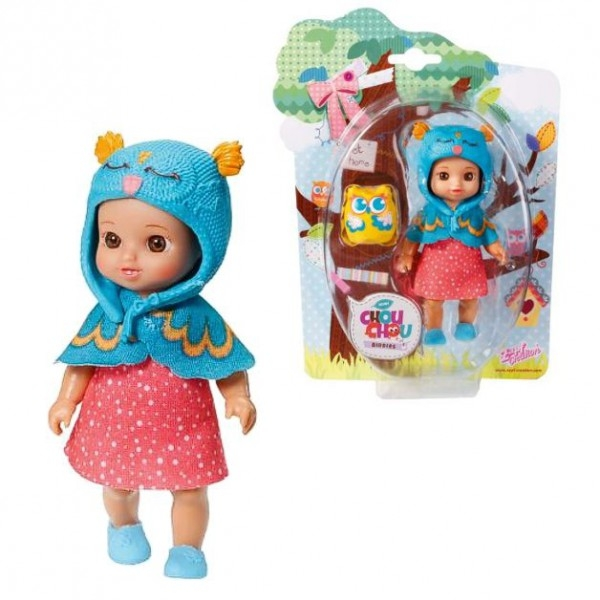 CHOU CHOU panenka mini Sovičky - FLORY - CHOU CHOU panenka mini Sovičky - FLORY - 1ks