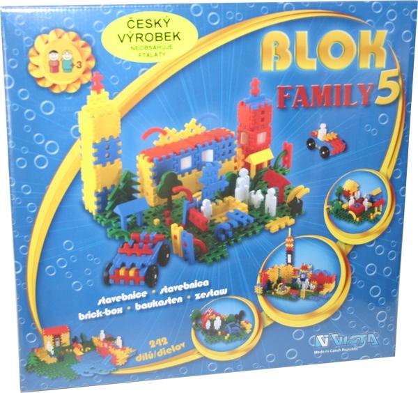 Stavebnice BLOK 5 - FAMILY, 242 dílů