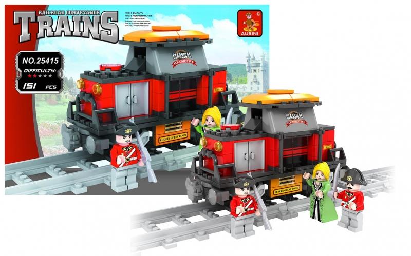Stavebnice AUSINI vlak, 151 dílů