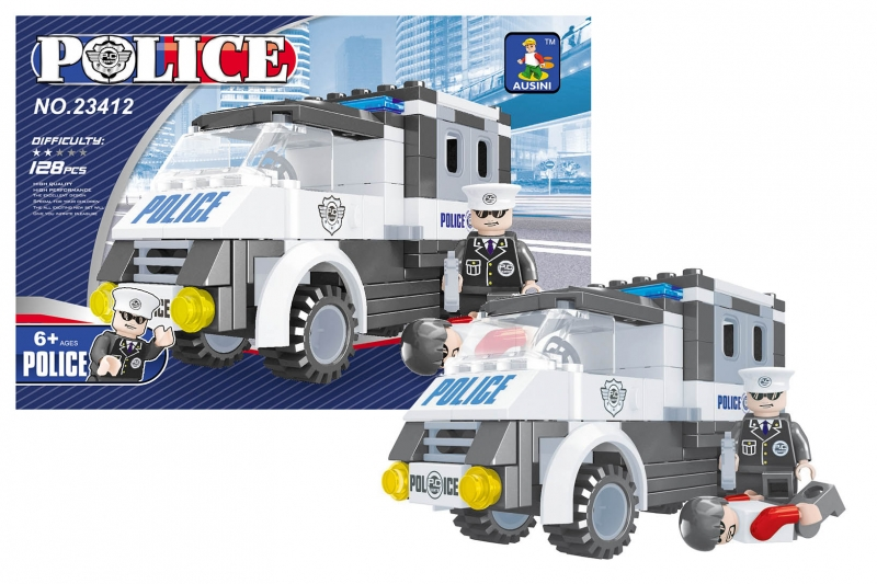Stavebnice AUSINI policejní auto 128 dílů