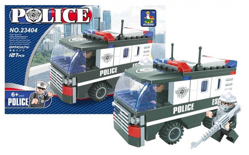 Stavebnice AUSINI policejní auto 127 dílů