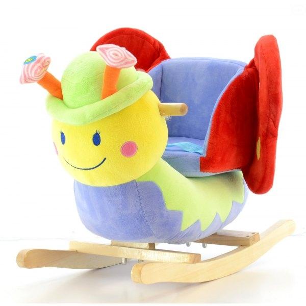 Euro Baby Houpací Motýlek s kloboučkem a s melodii - modrý, D19