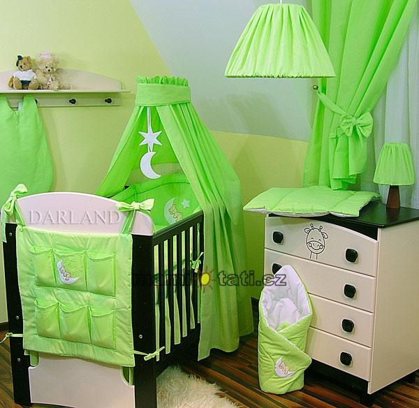 Luxusní 5D set CL - Medvídek na měsíčku zelený