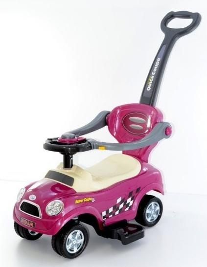 Odstrkovadlo,odrážedlo 3v1 AUTO- růžové/lila/purple