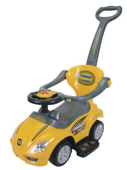 Odstrkovadlo,odrážedlo 3v1 AUTO - žluté