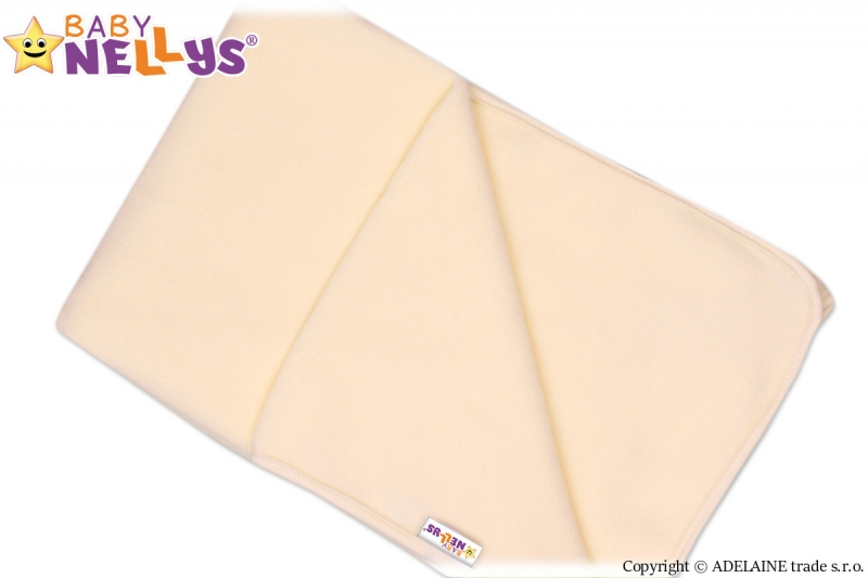 Deka/dečka polar Feel Baby Nellys ® - smetanová, Velikost: 75 x 100 cm