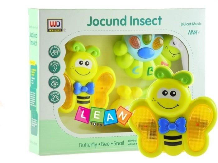 Interaktivní hudební sada hraček - Včelka, housenka a motýlek (Interaktivní sada hraček)