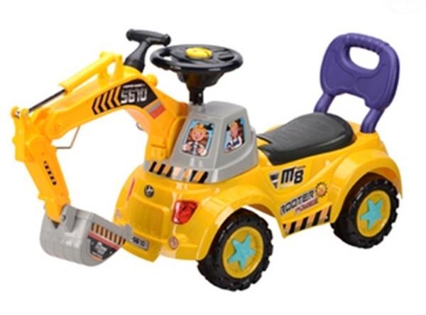 Odstrkovadlo,odrážedlo, jezdítko - BAGR - žlutý (EB 584Y - žluté)