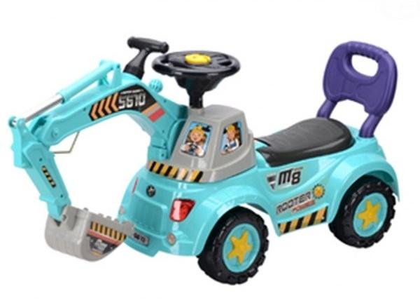 Odstrkovadlo,odrážedlo, jezdítko - BAGR - modrý - EB 584B - modré
