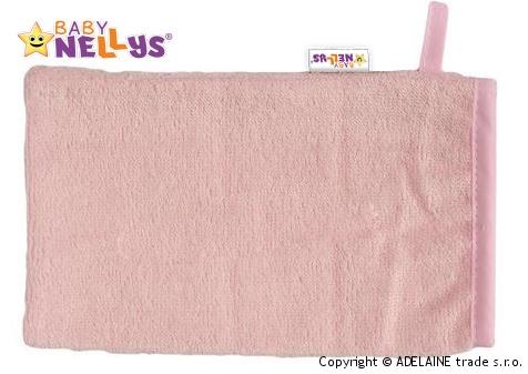 Bambusová žínka Baby Nellys ® - sv. růžová