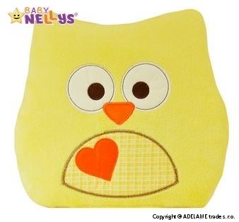 Polštářek Baby Nellys ® SOVIČKA - žlutá